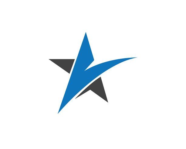 Stella falco Logo Template vettoriale icone app