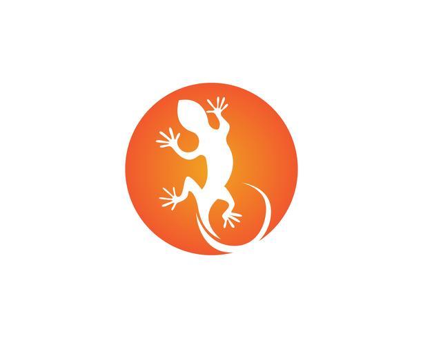 Temlate di vettore di simboli e di simboli degli animali della lucertola