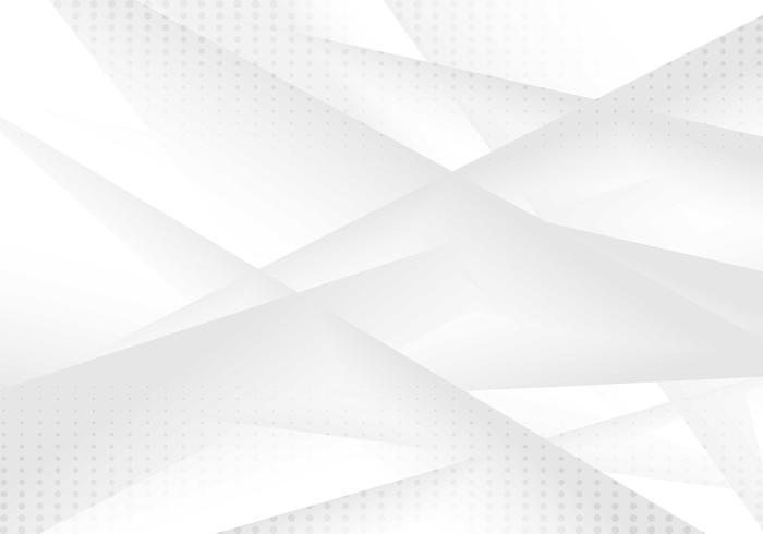 Astratto sfondo sfumato di colore grigio e bianco geometrico con motivo a puntini. Stile mezzitoni È possibile utilizzare per la progettazione di copertine, brochure, poster, banner web, stampa, annunci pubblicitari, ecc. vettore