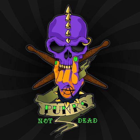 Logo del Death Catcher del teschio del motociclista vettore