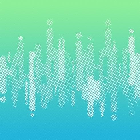 Il colore blu e verde astratto di pendenza ha arrotondato le linee linee fondo di transizione con lo spazio della copia. Elemento stile mezzitoni vettore
