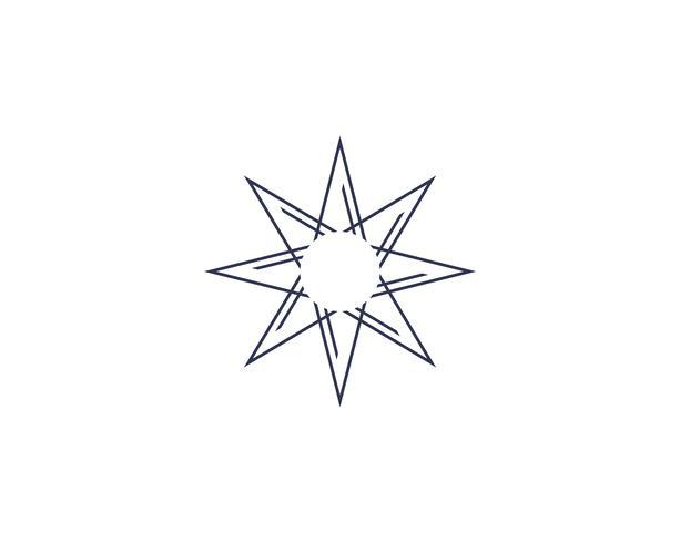 Progettazione dell'illustrazione dell'icona di vettore del modello di logo della stella.