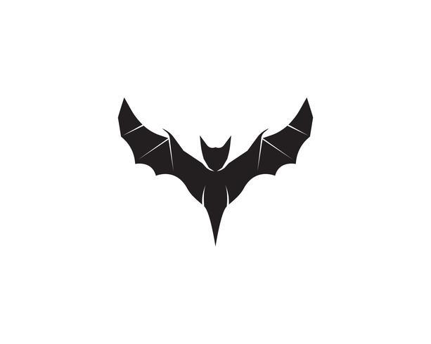 App icone del fondo bianco del modello di logo del nero di pipistrello app vettore