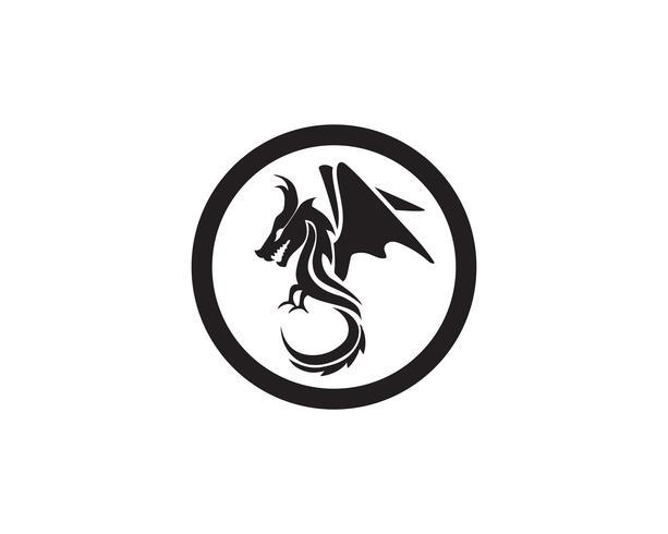 Drago logo icona vettoriale