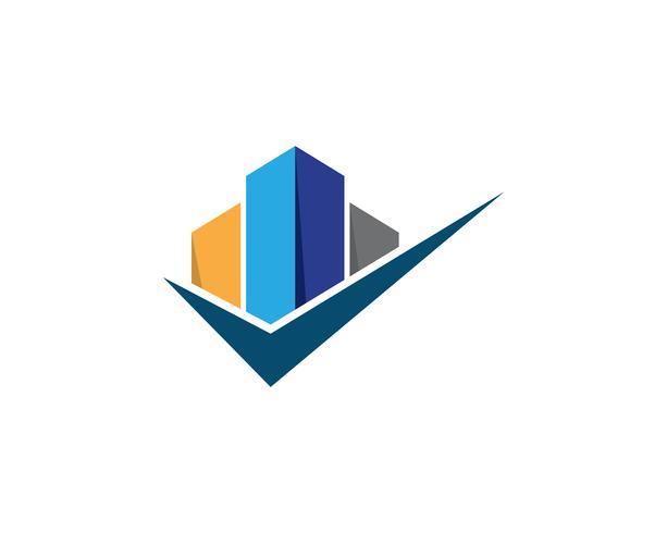 Proprietà e costruzione Logo design vettore