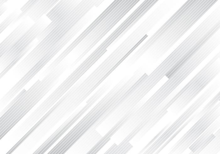 Le bande diagonali bianche e grige geometriche astratte allinea il fondo moderno. vettore