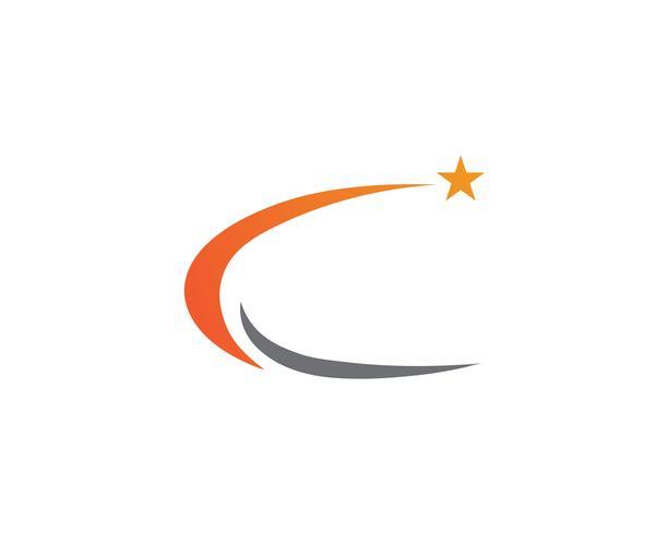 Illustrazione dell'icona di stella modello logo vettoriale