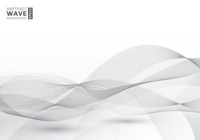 Il modello astratto elegante mormora le linee grige di velocità futuristica delle onde grige fondo moderno con lo spazio della copia vettore