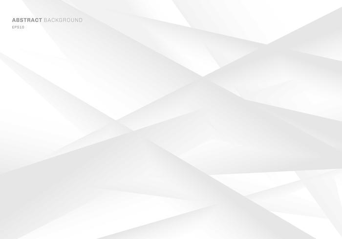 Astratto geometrico grigio e bianco sfumato di colore di sfondo. È possibile utilizzare per la progettazione di copertine, brochure, poster, banner web, stampa, annunci pubblicitari, ecc vettore