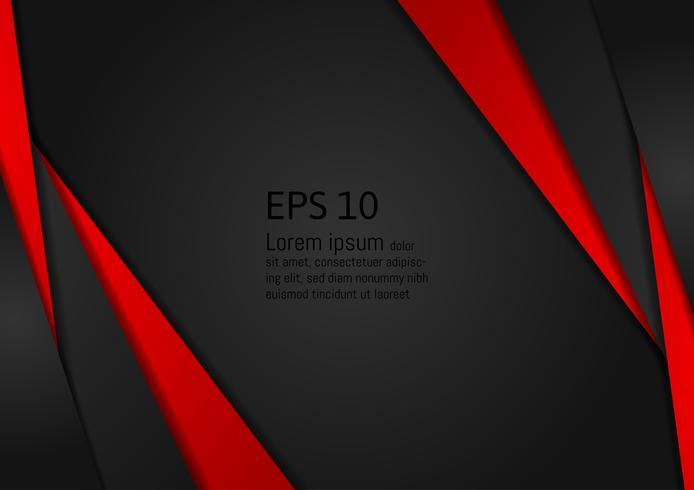 Estratto geometrico rosso e nero su sfondo design moderno con spazio di copia, illustrazione vettoriale