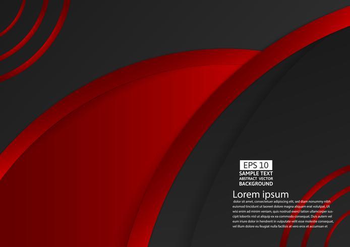 Progettazione moderna del fondo astratto geometrico di colore nero e rosso con lo spazio della copia, illustrazione di vettore