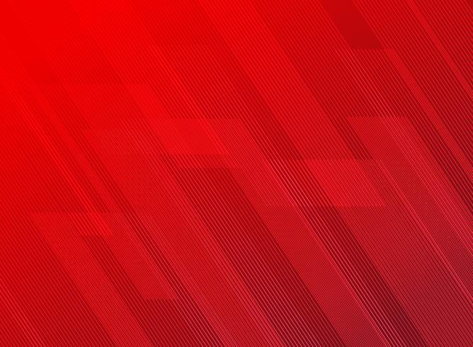Le linee astratte modellano la tecnologia sul fondo rosso delle pendenze. vettore