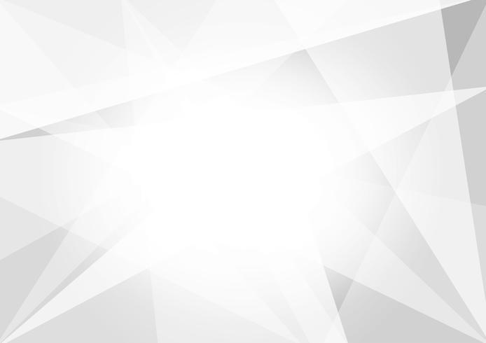 Progettazione moderna del fondo astratto del poligono di colore bianco e grigio, illustrazione di vettore per il vostro affare
