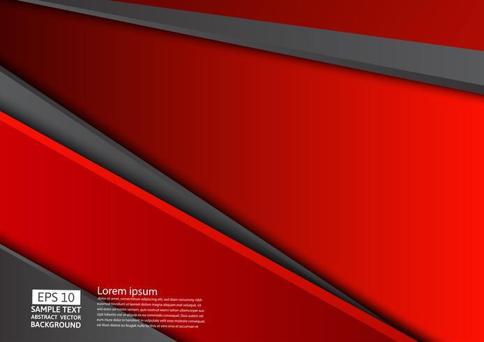 Fondo astratto geometrico rosso e nero con lo spazio della copia, progettazione grafica vettore