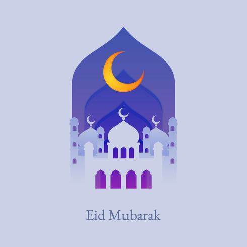 Astratto sfondo sacro per eid Mubarak vettore
