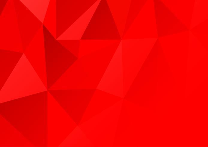 Fondo astratto del poligono di colore rosso. Illustrazione vettoriale