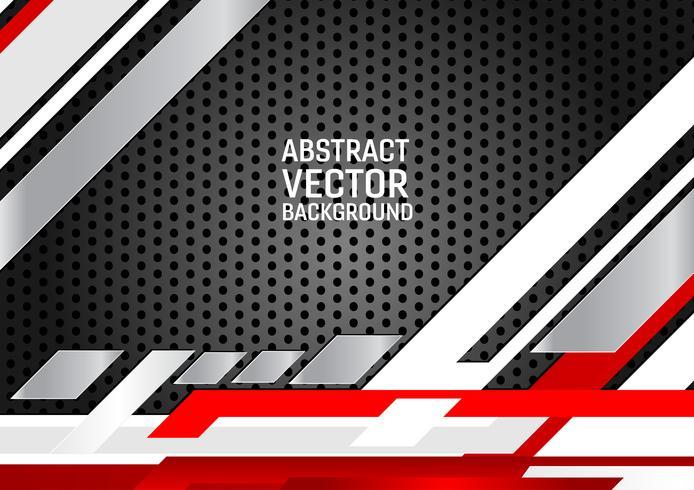 Astratto geometrico sfondo Bianco, grigio e nero e rosso. Nuova trama di sfondo con design dello spazio di copia per il tuo business vettore