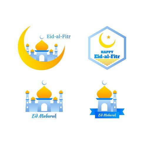 Eid Al Fitr Template Design vettore
