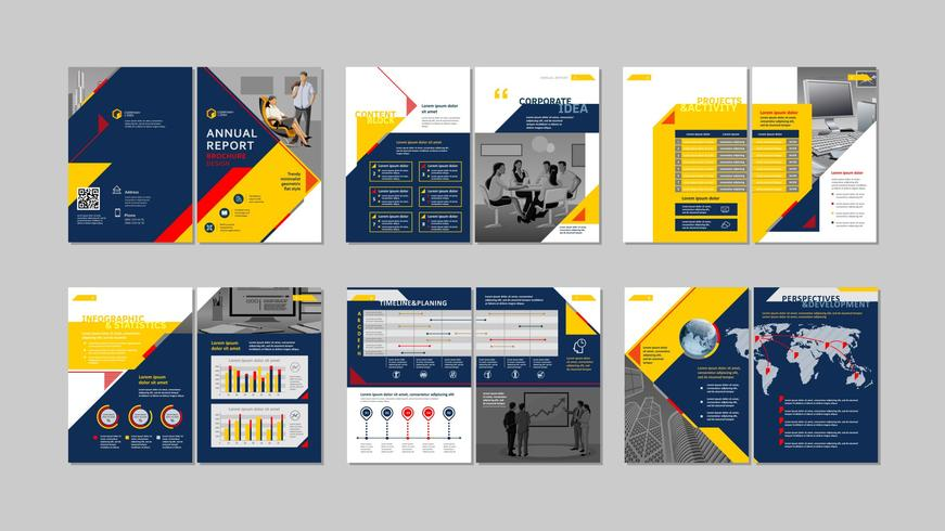 Brochure design creativo. vettore