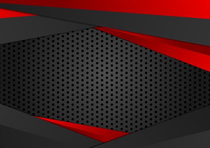 Vector sfondo geometrico di colore rosso e nero. Struttura astratta con progettazione dello spazio della copia per il vostro affare.