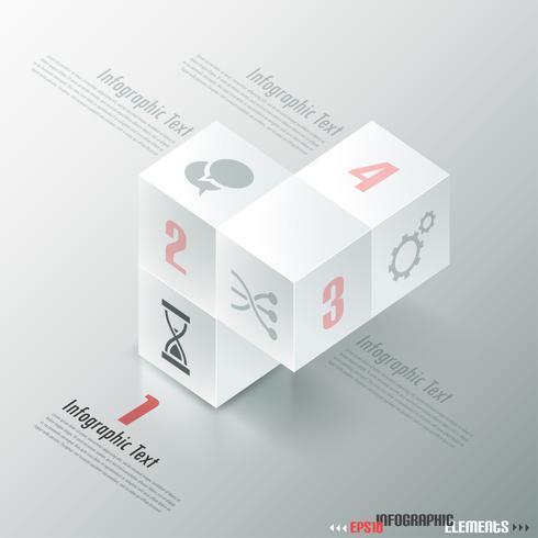 Insegna moderna di opzioni di Infographics. vettore