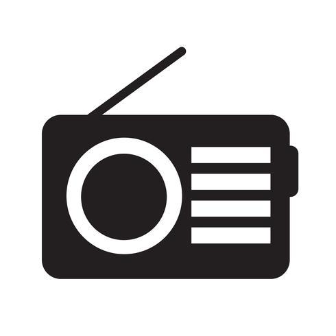 Illustrazione di vettore icona radio