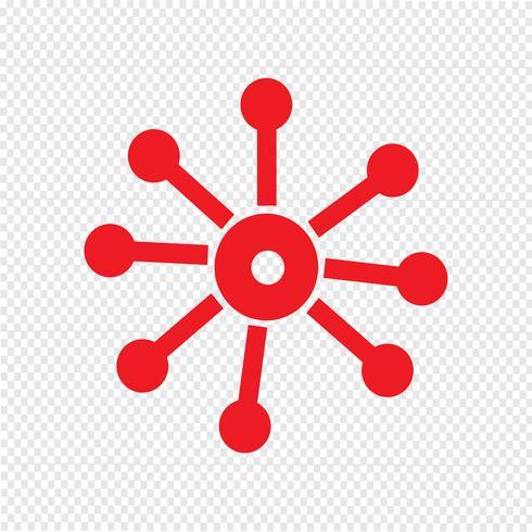 Illustrazione di vettore dell'icona della rete di affari
