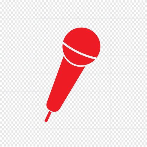 Illustrazione di vettore icona microfono