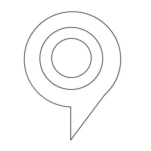 illustrazione vettoriale di destinazione bolla icona