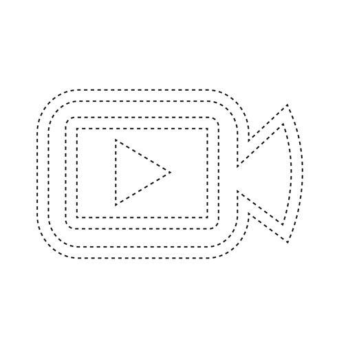 Icona della fotocamera del cinema vettore
