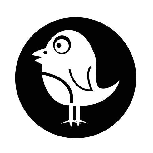 Icona di uccello vettore
