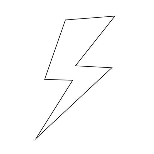 Illustrazione di vettore dell'icona del fulmine
