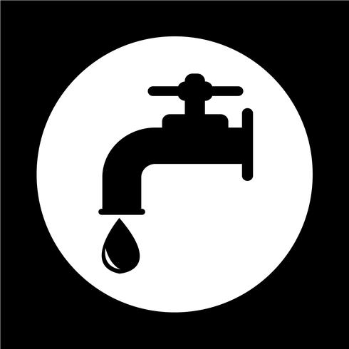 icona del rubinetto vettore