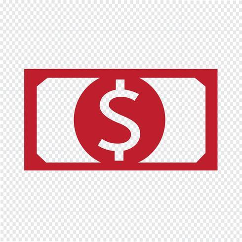 icona di denaro illustrazione vettoriale