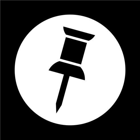 icona pin vettore