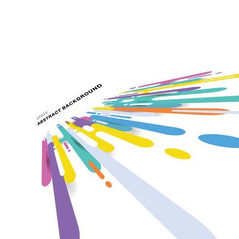 Linee di forme arrotondate multicolore astratti linee sfondo prospettiva di transizione con lo spazio della copia. Elemento stile mezzitoni brillante colore pop art. vettore