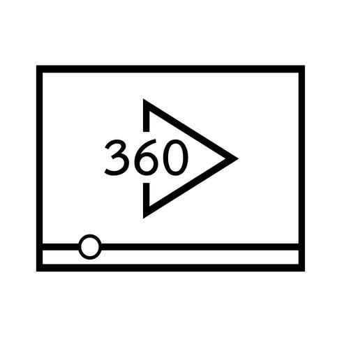 Icona di riproduzione del flusso video vettore