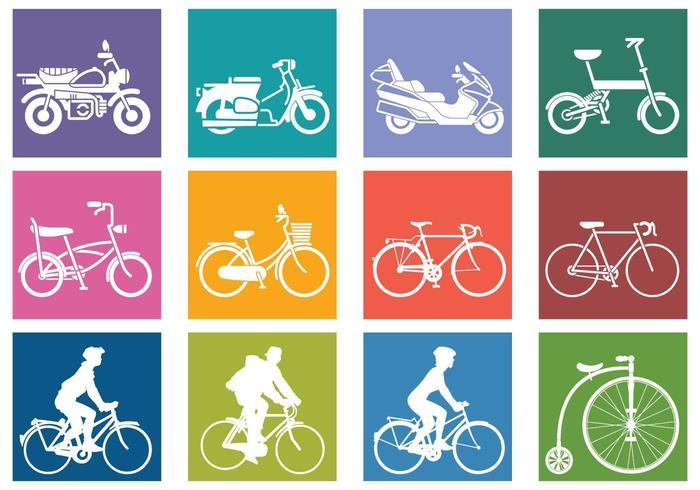 Vari pacchetti di biciclette vettore