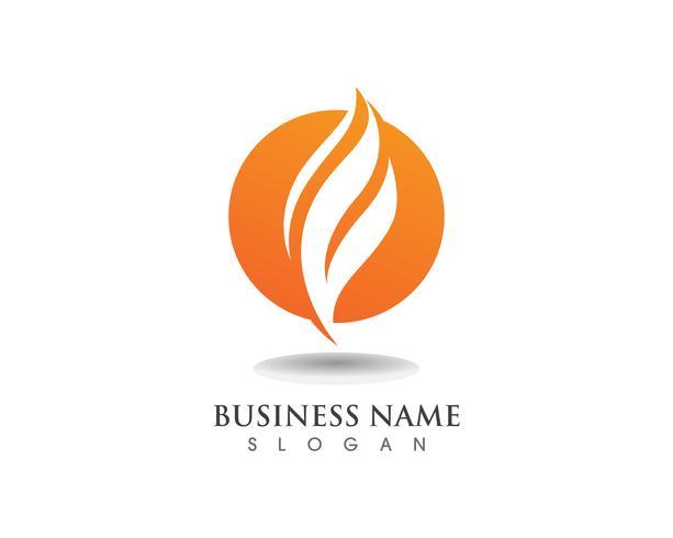 Fuoco fiamma logo vettoriale