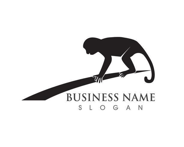 Scimmia simbolo logo e simbolo vettore
