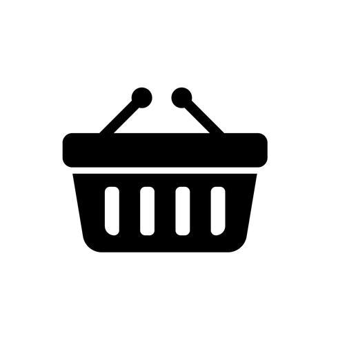 Vettore dell'icona del cestino online