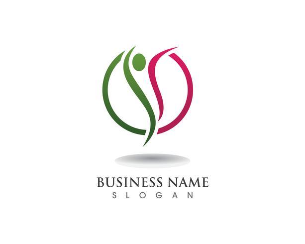 Logo e simboli di persone di leadership vettore