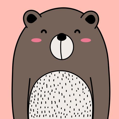 Fondo dell'illustrazione di vettore dell'orso freddo.