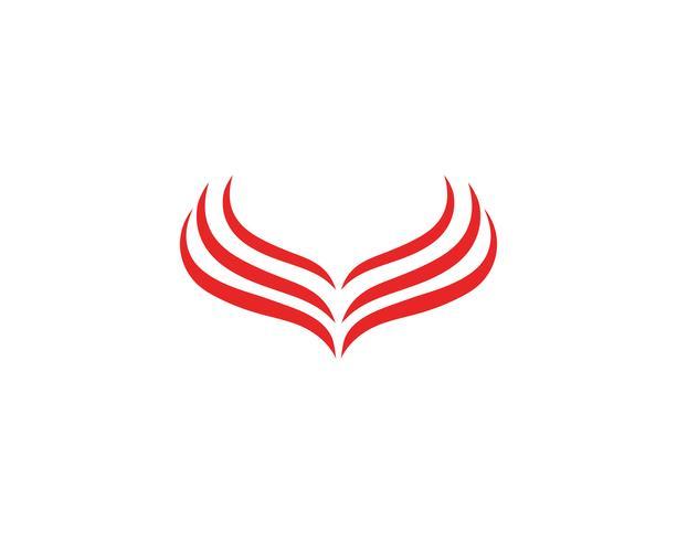 Vettore del modello di Logo dell'uccello dell'aquila del falco