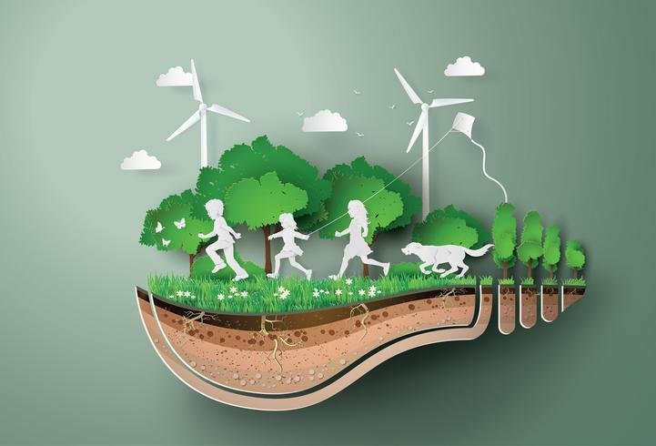Concetto di ecologia e ambiente vettore