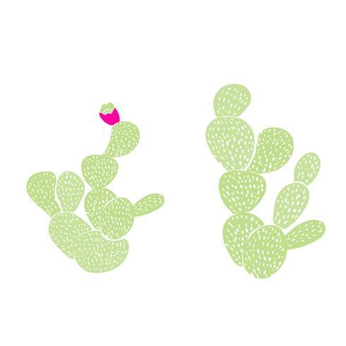 Modello senza cuciture decorativo disegnato a mano con cactus. in stile scandinavo. Design tropicale alla moda per il tessile vettore