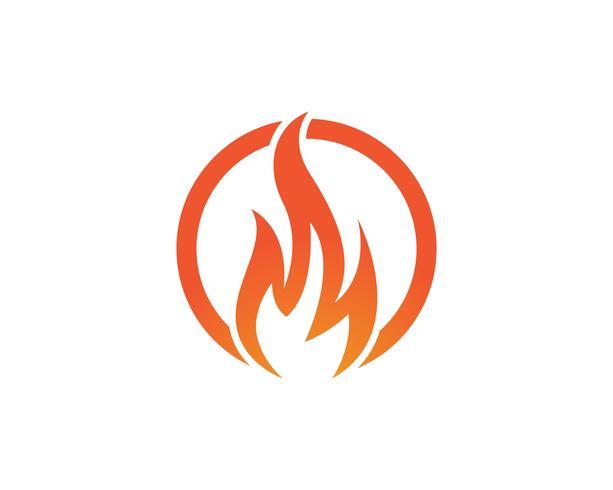 Modello di logo icona di vettore di fuoco