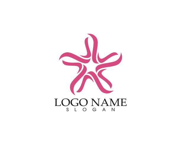 Icona del falco di stelle Logo Template vettoriale