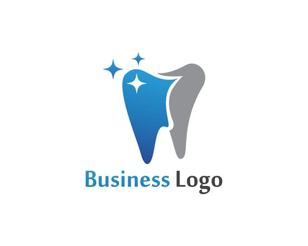 Modello di vettore di logo e simboli di cure odontoiatriche