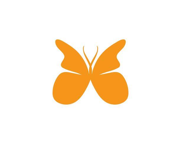 Disegno dell'icona di bellezza farfalla vettore